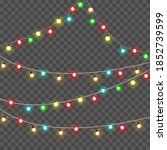 christmas lights isolated on... | Shutterstock .eps vector #1852739599