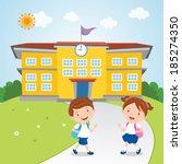 kids go to school. vector... | Shutterstock .eps vector #185274350