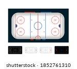 ice hockey arena. set of vector ...   Shutterstock .eps vector #1852761310