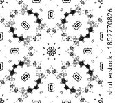 seamless pattern with floral... | Shutterstock . vector #1852770826
