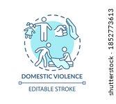 domestic violence concept icon. ...   Shutterstock .eps vector #1852773613