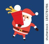 Santa Claus Cartoon Vector....