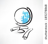 globus grunge icon | Shutterstock .eps vector #185278868
