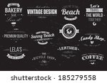 collection of vintage retro... | Shutterstock .eps vector #185279558