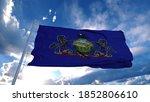 Pennsylvania Flag On A Flagpole ...