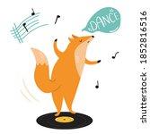 Funny Illustration Of A Fox...