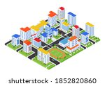 urban landscape   modern vector ...   Shutterstock .eps vector #1852820860