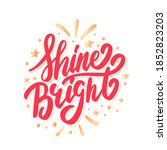 shine bright. merry christmas... | Shutterstock .eps vector #1852823203