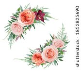 elegant vector floral bouquet...   Shutterstock .eps vector #1852825690