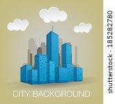 city background | Shutterstock .eps vector #185282780