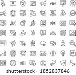 thin outline vector icon set... | Shutterstock .eps vector #1852837846
