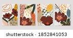 botanical wall art vector set.... | Shutterstock .eps vector #1852841053