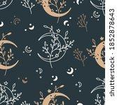 celestial floral seamless... | Shutterstock .eps vector #1852878643
