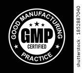 gmp good manufacturing practice ... | Shutterstock .eps vector #1852887040