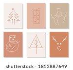 hand drawn vector merry...   Shutterstock .eps vector #1852887649
