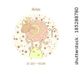 cute zodiac sign   aries....   Shutterstock .eps vector #185288780
