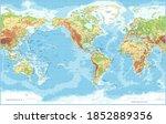 world map   american view  ... | Shutterstock .eps vector #1852889356
