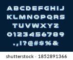 3d bold modern metallic font.... | Shutterstock .eps vector #1852891366