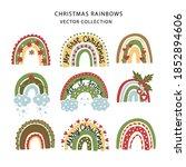 christmas rainbow vector set.... | Shutterstock .eps vector #1852894606