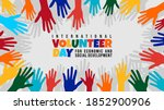 international volunteer day for ...   Shutterstock .eps vector #1852900906