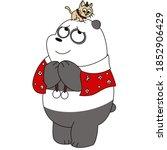 Cute Cartoon Panda In Christmas ...