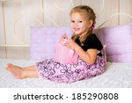 portrait of attractive cheerful ... | Shutterstock . vector #185290808
