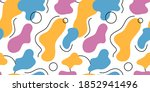 seamless pattern with abstract... | Shutterstock .eps vector #1852941496