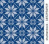 scandinavian knitted seamless... | Shutterstock .eps vector #1852956919