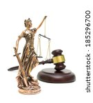 statue of justice and gavel...   Shutterstock . vector #185296700