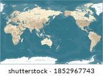world map   pacific view   asia ... | Shutterstock . vector #1852967743