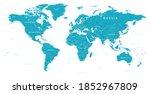 world map political   . highly...   Shutterstock . vector #1852967809