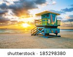 Miami South Beach Sunrise With...