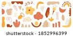 organic shapes set on white... | Shutterstock .eps vector #1852996399