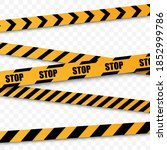 yellow line stop set. the...   Shutterstock .eps vector #1852999786