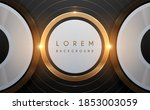 abstract gold circle lines... | Shutterstock .eps vector #1853003059