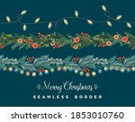 christmas and happy new year... | Shutterstock .eps vector #1853010760