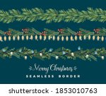 christmas and happy new year... | Shutterstock .eps vector #1853010763