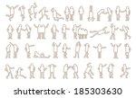 set of active human pictogram.... | Shutterstock .eps vector #185303630