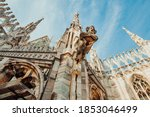 Roof Of Milan Cathedral Duomo...