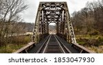 Vintage Steel Railroad Bridge...