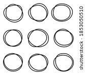 vector set of simple round...   Shutterstock .eps vector #1853050510