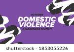 domestic violence awareness...   Shutterstock .eps vector #1853055226