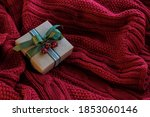 christmas card with gift box... | Shutterstock . vector #1853060146