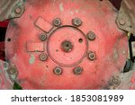 Close Up Of Isolated Red Rusty...