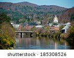 Montpelier, Vermont sits astride the Winooski River in the center of the state.