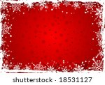 grunge christmas frame with... | Shutterstock .eps vector #18531127