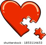 heart puzzle  illustration ... | Shutterstock .eps vector #1853114653