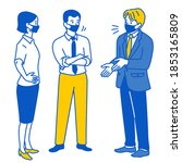 business people standing and... | Shutterstock .eps vector #1853165809