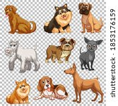 set of different dogs isolated...   Shutterstock .eps vector #1853176159