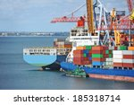 container stack and ship under